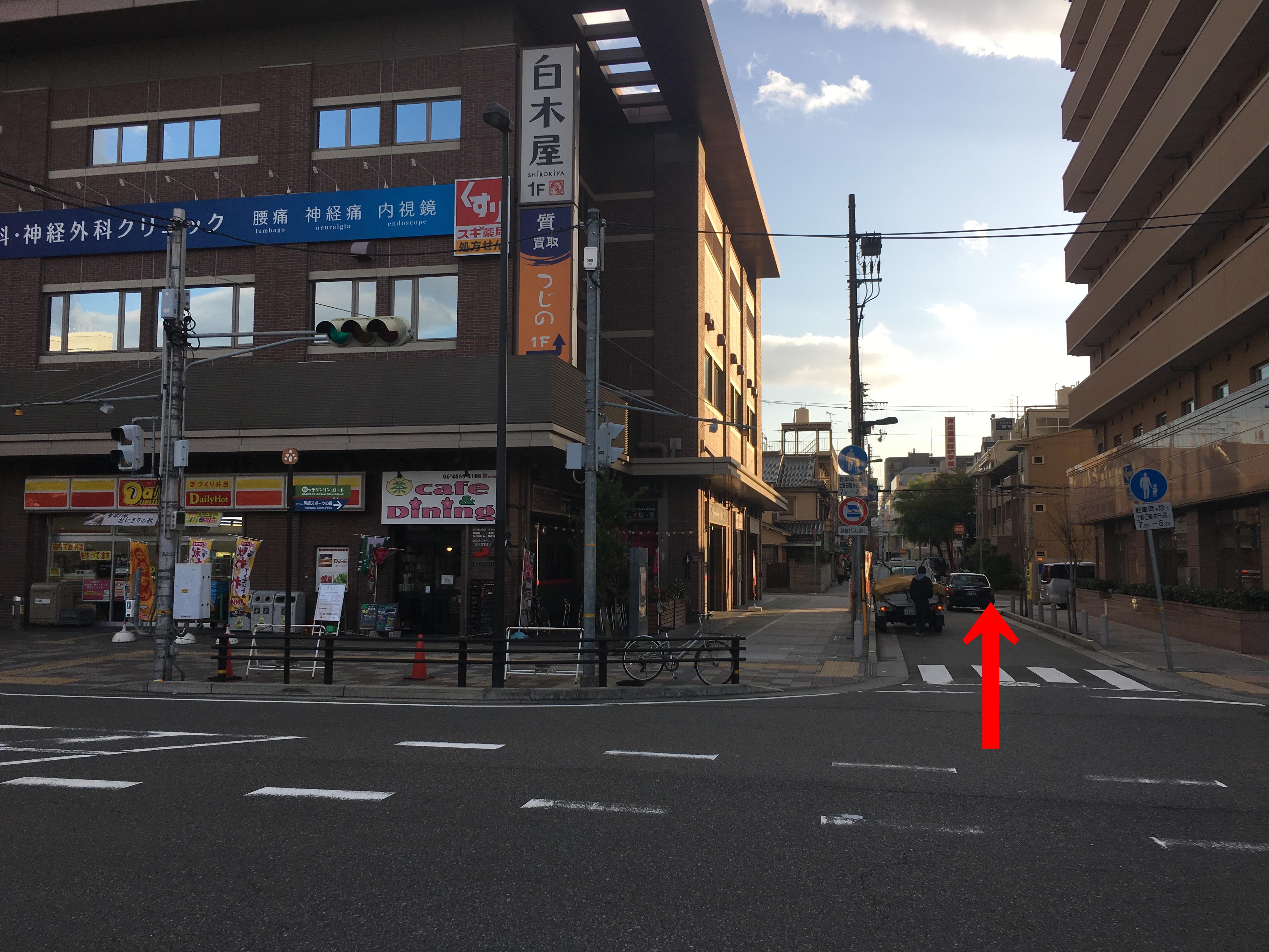 店舗までの道のり2