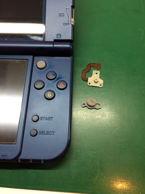 New 3DS LLのCスティックボタンの交換 | Nintendo3DS ・Switch・ PSP 修理 ...