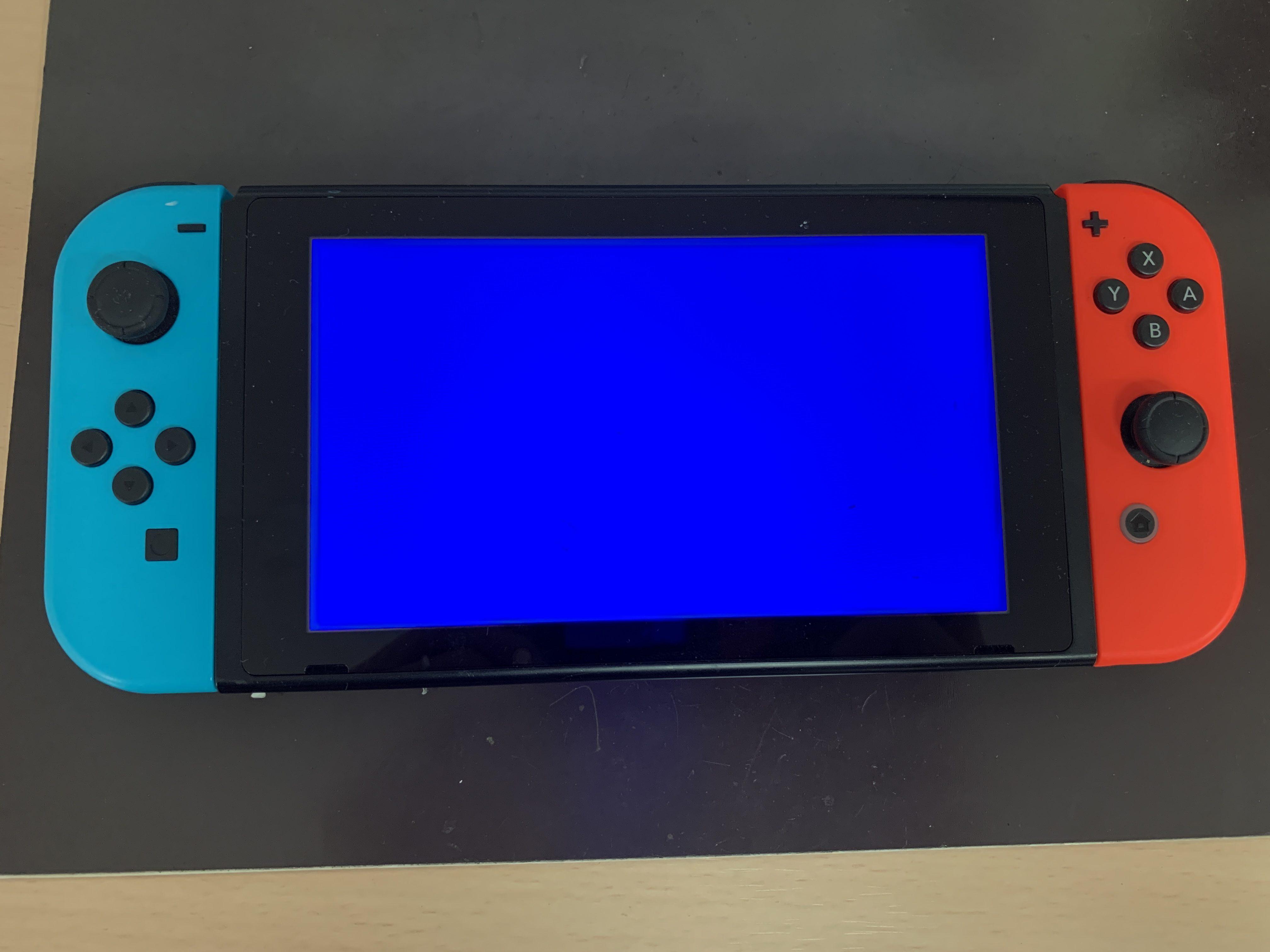 switch ブルー スクリーン