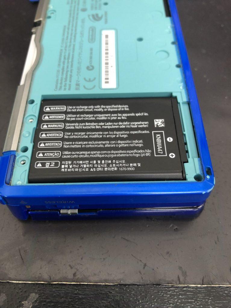 3DSバッテリー交換後